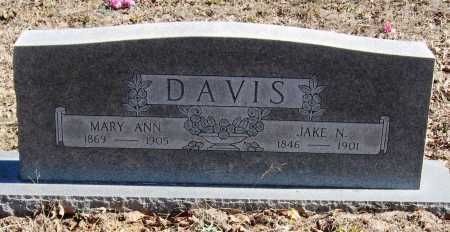 DAVIS, JAKE N - Pope County, Arkansas | JAKE N DAVIS - Arkansas Gravestone Photos