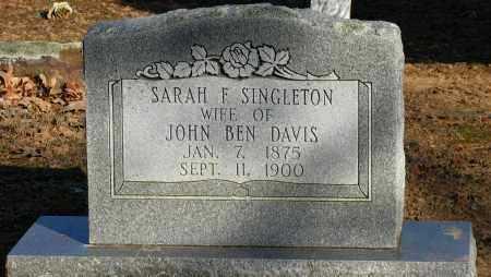 DAVIS, SARAH F - Pope County, Arkansas | SARAH F DAVIS - Arkansas Gravestone Photos