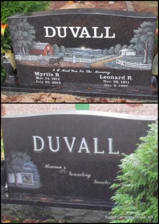DUVALL, LEONARD R - Pope County, Arkansas | LEONARD R DUVALL - Arkansas Gravestone Photos