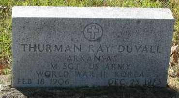 DUVALL (VETERAN 2WARS), THURMAN RAY - Pope County, Arkansas | THURMAN RAY DUVALL (VETERAN 2WARS) - Arkansas Gravestone Photos