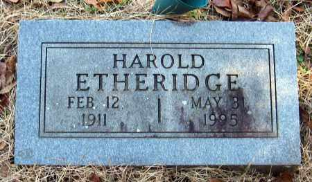 ETHERIDGE, HAROLD - Pope County, Arkansas | HAROLD ETHERIDGE - Arkansas Gravestone Photos