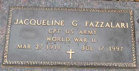 FAZZALARI  (VETERAN WWII), JACQUELINE G - Pope County, Arkansas | JACQUELINE G FAZZALARI  (VETERAN WWII) - Arkansas Gravestone Photos