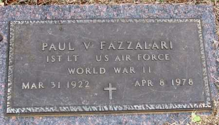 FAZZALARI  (VETERAN WWII), PAUL V - Pope County, Arkansas | PAUL V FAZZALARI  (VETERAN WWII) - Arkansas Gravestone Photos