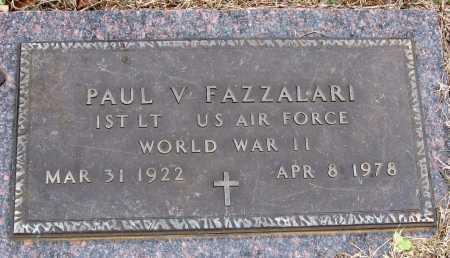 FAZZALARI  (VETERAN WWII), PAUL V - Pope County, Arkansas   PAUL V FAZZALARI  (VETERAN WWII) - Arkansas Gravestone Photos