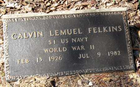 FELKINS  (VETERAN WWII), CALVIN LEMUEL - Pope County, Arkansas | CALVIN LEMUEL FELKINS  (VETERAN WWII) - Arkansas Gravestone Photos