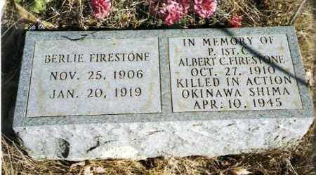 FIRESTONE, BERLIE - Pope County, Arkansas | BERLIE FIRESTONE - Arkansas Gravestone Photos