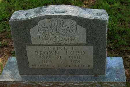 BROWN FORD, LORINE L - Pope County, Arkansas | LORINE L BROWN FORD - Arkansas Gravestone Photos