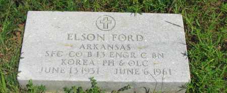 FORD (VETERAN KOR), ELSON - Pope County, Arkansas | ELSON FORD (VETERAN KOR) - Arkansas Gravestone Photos