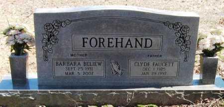 FOREHAND, BARBARA - Pope County, Arkansas | BARBARA FOREHAND - Arkansas Gravestone Photos