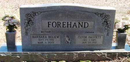BELIEW FOREHAND, BARBARA - Pope County, Arkansas | BARBARA BELIEW FOREHAND - Arkansas Gravestone Photos