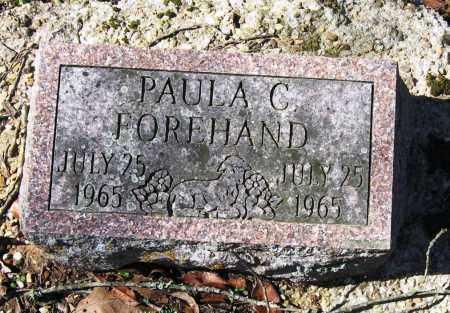FOREHAND, PAULA C - Pope County, Arkansas | PAULA C FOREHAND - Arkansas Gravestone Photos