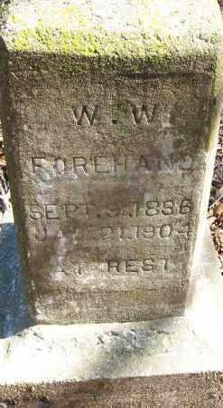 FOREHAND, W  W - Pope County, Arkansas | W  W FOREHAND - Arkansas Gravestone Photos
