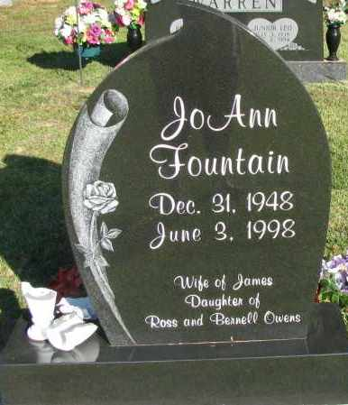 FOUNTAIN, JO ANN - Pope County, Arkansas | JO ANN FOUNTAIN - Arkansas Gravestone Photos