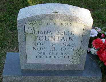 FOUNTAIN, JANA BELLE - Pope County, Arkansas | JANA BELLE FOUNTAIN - Arkansas Gravestone Photos