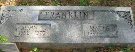 FRANKLIN, JOHN T - Pope County, Arkansas | JOHN T FRANKLIN - Arkansas Gravestone Photos