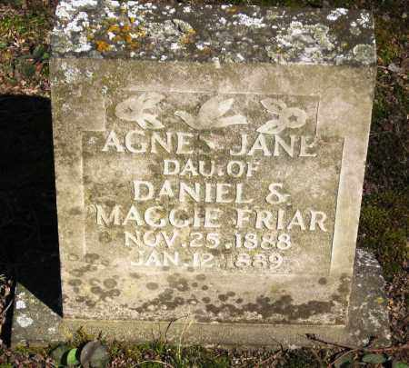 FRIAR, AGNES JANE - Pope County, Arkansas | AGNES JANE FRIAR - Arkansas Gravestone Photos