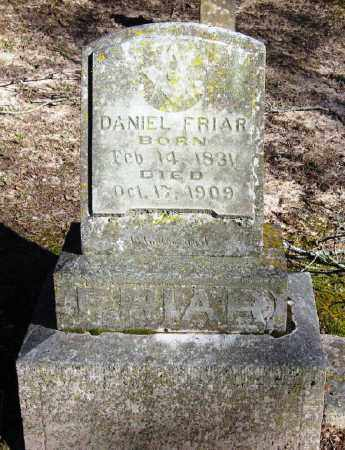 FRIAR (VETERAN CSA), DANIEL - Pope County, Arkansas | DANIEL FRIAR (VETERAN CSA) - Arkansas Gravestone Photos