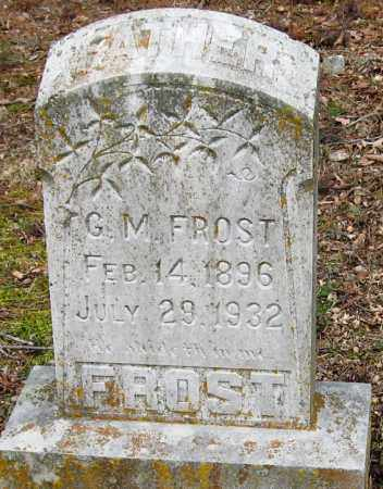 FROST, G  M - Pope County, Arkansas | G  M FROST - Arkansas Gravestone Photos