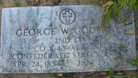 GODFREY (VETERAN CSA), GEORGE W - Pope County, Arkansas | GEORGE W GODFREY (VETERAN CSA) - Arkansas Gravestone Photos