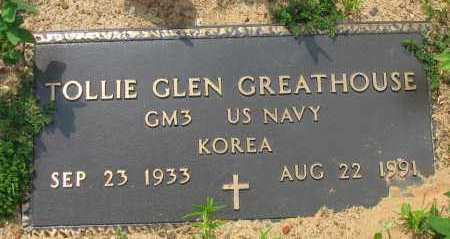 GREATHOUSE (VETERAN KOR), TOLLIE GLEN - Pope County, Arkansas | TOLLIE GLEN GREATHOUSE (VETERAN KOR) - Arkansas Gravestone Photos