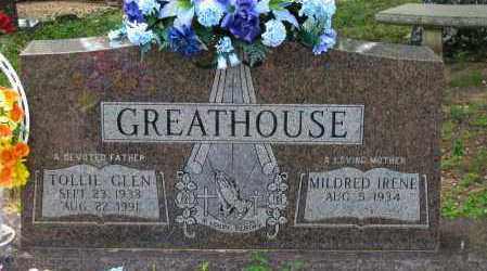 GREATHOUSE, TOLLIE GLEN - Pope County, Arkansas | TOLLIE GLEN GREATHOUSE - Arkansas Gravestone Photos