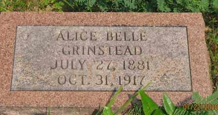 GRINSTEAD, ALICE BELLE - Pope County, Arkansas | ALICE BELLE GRINSTEAD - Arkansas Gravestone Photos