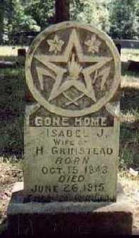 GRINSTEAD, ISABEL JANE - Pope County, Arkansas | ISABEL JANE GRINSTEAD - Arkansas Gravestone Photos