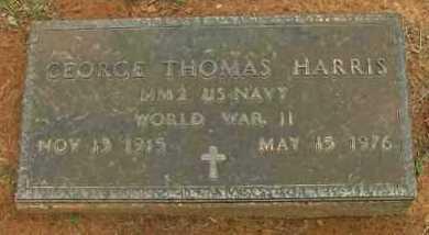 HARRIS (VETERAN WWII), GEORGE THOMAS - Pope County, Arkansas | GEORGE THOMAS HARRIS (VETERAN WWII) - Arkansas Gravestone Photos