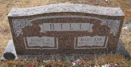 LLEWELLYN HILL, MARY ANN - Pope County, Arkansas | MARY ANN LLEWELLYN HILL - Arkansas Gravestone Photos