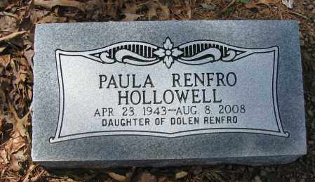 RENFRO HOLLOWELL, PAULA - Pope County, Arkansas | PAULA RENFRO HOLLOWELL - Arkansas Gravestone Photos