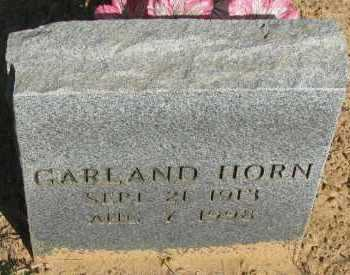 HORN, GARLAND - Pope County, Arkansas | GARLAND HORN - Arkansas Gravestone Photos