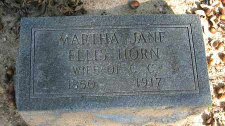 HORN, MARTHA JANE - Pope County, Arkansas | MARTHA JANE HORN - Arkansas Gravestone Photos