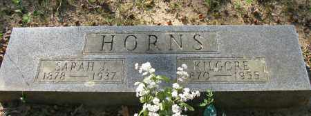HORN, KILGORE - Pope County, Arkansas | KILGORE HORN - Arkansas Gravestone Photos