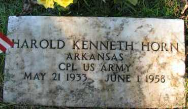 HORN (VETERAN), HAROLD KENNETH - Pope County, Arkansas | HAROLD KENNETH HORN (VETERAN) - Arkansas Gravestone Photos