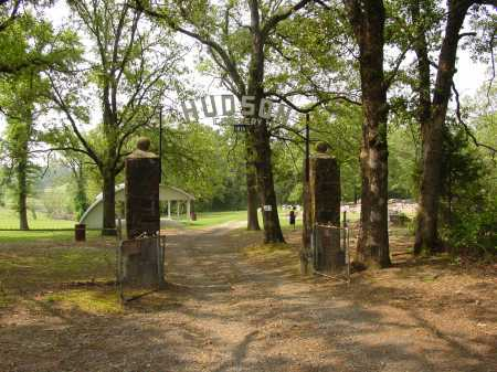 *HUDSON CEMETERY GATE,  - Pope County, Arkansas |  *HUDSON CEMETERY GATE - Arkansas Gravestone Photos