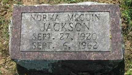 MCCUIN JACKSON, NORMA - Pope County, Arkansas | NORMA MCCUIN JACKSON - Arkansas Gravestone Photos