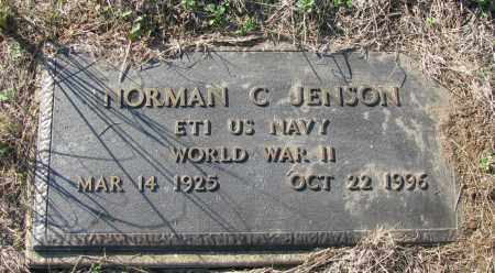 JENSON (VETERAN WWII), NORMAN C - Pope County, Arkansas | NORMAN C JENSON (VETERAN WWII) - Arkansas Gravestone Photos