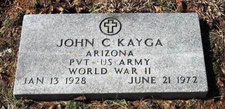 KAYGA  (VETERAN WWII), JOHN C - Pope County, Arkansas | JOHN C KAYGA  (VETERAN WWII) - Arkansas Gravestone Photos
