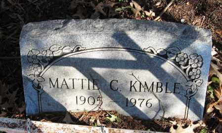 KIMBLE, MATTIE C - Pope County, Arkansas | MATTIE C KIMBLE - Arkansas Gravestone Photos