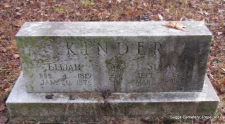 KINDER, SUSAN - Pope County, Arkansas | SUSAN KINDER - Arkansas Gravestone Photos