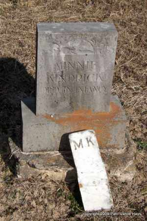 KINDRICK, MINNIE - Pope County, Arkansas | MINNIE KINDRICK - Arkansas Gravestone Photos