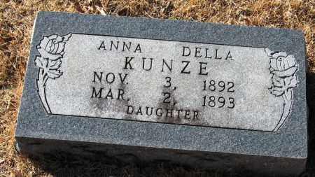KUNZE, ANNA DELLA - Pope County, Arkansas | ANNA DELLA KUNZE - Arkansas Gravestone Photos