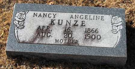 KUNZE, NANCY ANGELINE - Pope County, Arkansas | NANCY ANGELINE KUNZE - Arkansas Gravestone Photos
