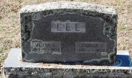 LEE, GEORGE F - Pope County, Arkansas | GEORGE F LEE - Arkansas Gravestone Photos