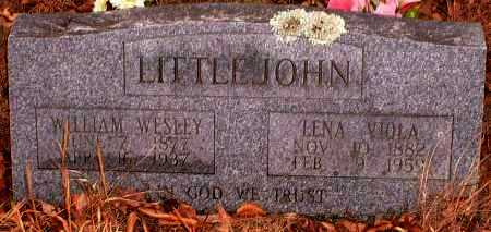 VERNON LITTLEJOHN, LENA VIOLA - Pope County, Arkansas | LENA VIOLA VERNON LITTLEJOHN - Arkansas Gravestone Photos