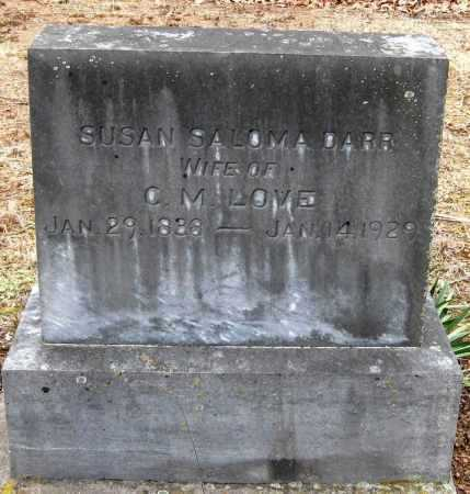 LOVE, SUSAN SALOMA - Pope County, Arkansas | SUSAN SALOMA LOVE - Arkansas Gravestone Photos