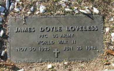 LOVELESS (VETERAN WWII), JAMES DOYLE - Pope County, Arkansas | JAMES DOYLE LOVELESS (VETERAN WWII) - Arkansas Gravestone Photos