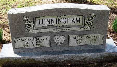 DUVALL LUNNINGHAM, NANCY ANN - Pope County, Arkansas | NANCY ANN DUVALL LUNNINGHAM - Arkansas Gravestone Photos