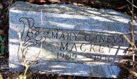 MACKEY, MARY G. (NEVA) - Pope County, Arkansas | MARY G. (NEVA) MACKEY - Arkansas Gravestone Photos