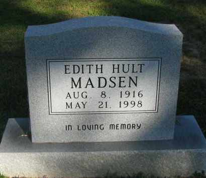 MADSEN, EDITH HULT - Pope County, Arkansas | EDITH HULT MADSEN - Arkansas Gravestone Photos